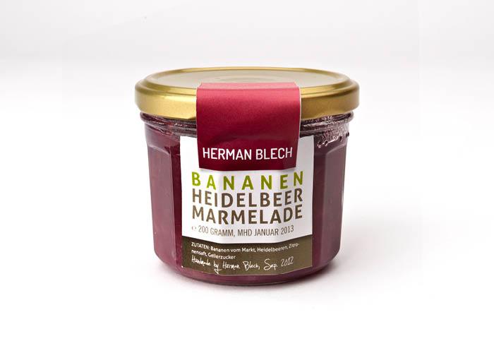 Bananen Heidelbeer Marmelade, Handmade von HERMAN BLECH
