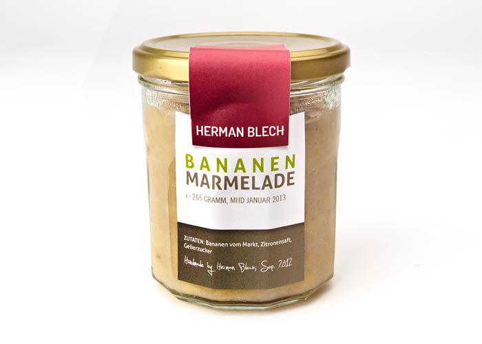 Bananen Marmelade, Handmade von HERMAN BLECH
