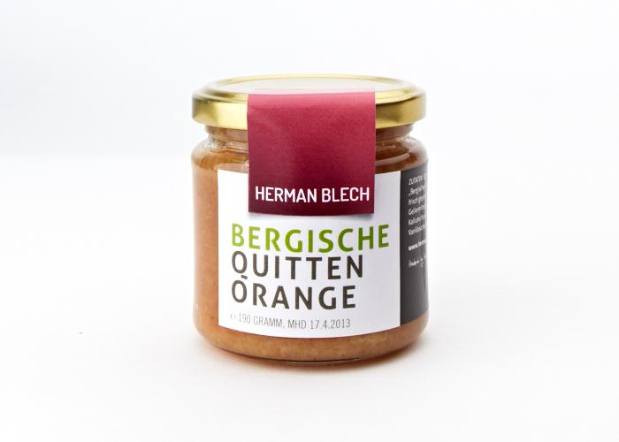 Bergische Quitten Orange, Handmade von HERMAN BLECH
